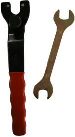 Angle grinder spanner adjustable