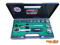 SOCKET SET WHITWORTH 16pc Trax