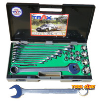 SOCKET & SPANNER SET WHITWORTH 21pc Trax