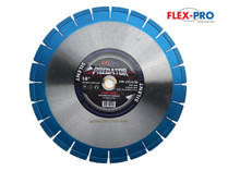 "Diamond saw blade 14"" segmented SILENT superior quality"