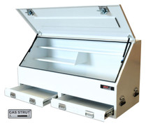 Tool box steel upright 2 drawer 28287