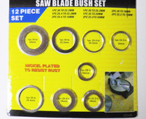 12pc SAW BLADE REDUCING BUSH SET