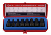 Genius 8pc INHEX Hex socket set metric