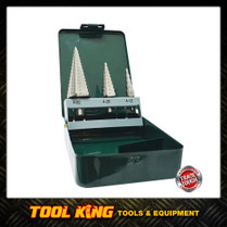 Step Drill set 3pc Insize M2 HSS Trade Quality