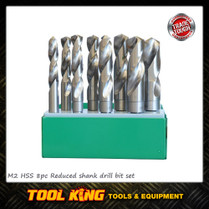 8pc Reduced Shank drill bit set 13 to 25mm met INSIZE TRADE QUALITY
