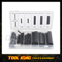 127pc Heat Shrink tubing Black Assortment pack