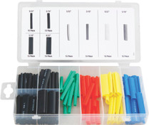 120pc Heat Shrink tubing assortment coloured