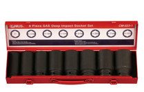 "3/4""DRIVE Impact Socket set 8pc Genius SAE"