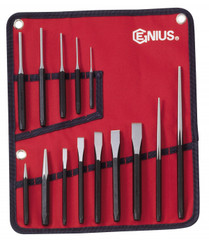 14PC PUNCH & CHISEL SET  Genius