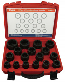 "3/4"" Drive Metric IMPACT socket set"
