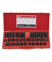 "37pc Impact Socket set 3/8 & 1/2"" drive  Genius"