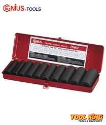 "1/2"" DRIVE Impact Socket set 10pc Genius IMPERIAL"