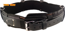 """Leather padded tool belt Oil Tanned riggers, nail belt etc 30 to 36"""""""
