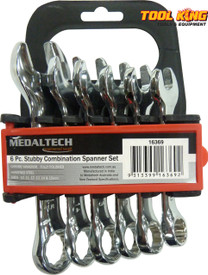 6pc Stubby Spanner set Chrome Vanaduim