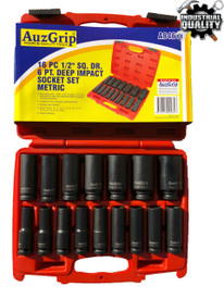 "16pc Deep Impact Socket set  1/2""Drive 6point"