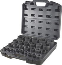 "27pc 3/4"" Drive metric Impact socket set"