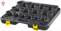 "17pc 3/4""Drive Impact Socket set METRIC"