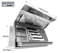 5 Drawer Aluminium tradesman tool box