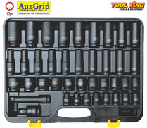 "40pc 1/2""Drive Impact Socket set Auzgrip METRIC"