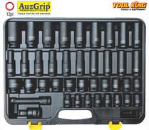 "40pc 1/2""Drive Impact Socket set Auzgrip METRIC"