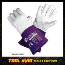 Tig Welders Gloves Platinum  Soft Skin leather Kevlar Stitched Weldclass