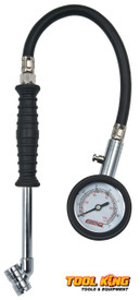 Dial tyre gauge long  reach design with deflate button Command Air