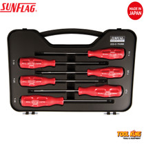 6pc TORX star screw driver set SUNFLAG Made in Japan