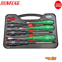 7pc Screw driver set SUNFLAG Made in Japan