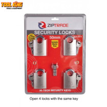 4pc Keyed alike security padlock set 50mm  open all 4 with same key