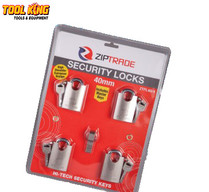 4pc Keyed alike security padlock set 40mm  open all 4 with same key