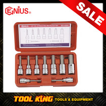 9pc Inhex Hex Bit Socket set Metric Genius Professional