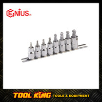 8pc Inhex Hex bit Socket set with Ball end  Genius Professional