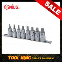 8pc Inhex Hex bit Socket set  Metric Genius Professional