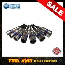 7pc Hex shaft Socket set suits 18volt Drills & Screw guns