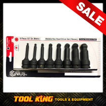BALL END INHEX Hex bit socket set metric Genius
