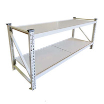 Workbench 2mt steel with timber top