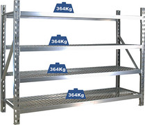 Shelving  Heavy duty with mesh shelves