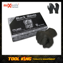 Extra Heavy Duty disposable Gloves Nitril Black Shield 100pairs Extra Large