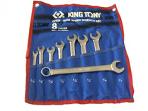 Combination Ratchet open end/ standard ring spanner set