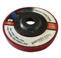 "Multi function POLISHING DISC 4"" red 320grit"