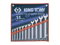 SPANNER SET 11pc KING TONY metric combination
