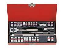 "SOCKET SET 1/4""dv 30pc KING TONY"