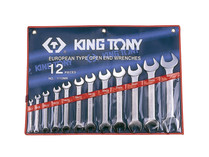 SPANNER SET DOUBLE OPEN END 12PC SET king tony