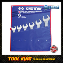 6pc Jumbo Spanner set Extra Large sizes 34 to 50mm KING TONY Professional
