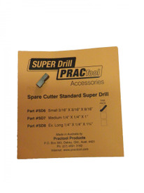 SUPER DRILL replacement cutter 3/16""