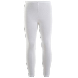 Girls Leotard Legging Cotton Stretch Full Length School Leggings Kids Stretch Leggings White Size 2-13