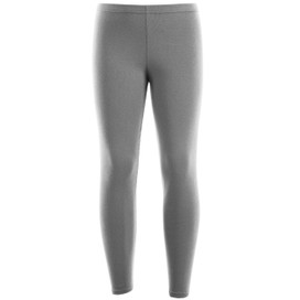 Girls Leotard Legging Cotton Stretch Full Length School Leggings Kids Stretch Leggings Grey  Size 2-13