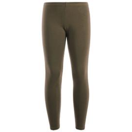 Girls Leotard Legging Cotton Stretch Full Length School Leggings Kids Stretch Leggings Dark Brown 2-13 Years