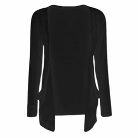 Long Sleeve Young Girls Cardigan - Black