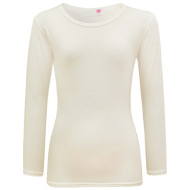Girls Minx Plain Full Sleeve Top Cream 7-13 Years